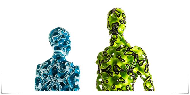Photo of Realizan colección de arte futurista con impresión 3D