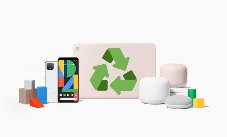 Google fabricará sus Pixel y Nest con plástico reciclado