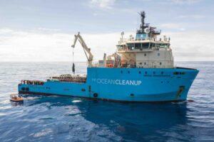 Ocean cleanup gafas de plástico