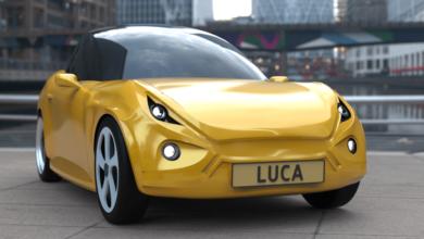 Luca: un auto eléctrico hecho con plástico y aluminio