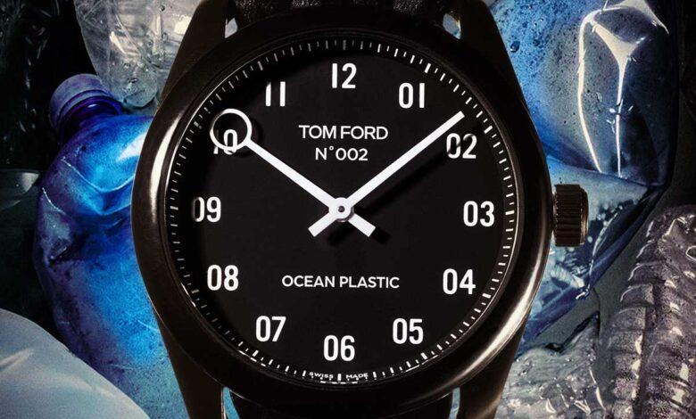 Tom Ford crea un reloj con plástico marino reciclado