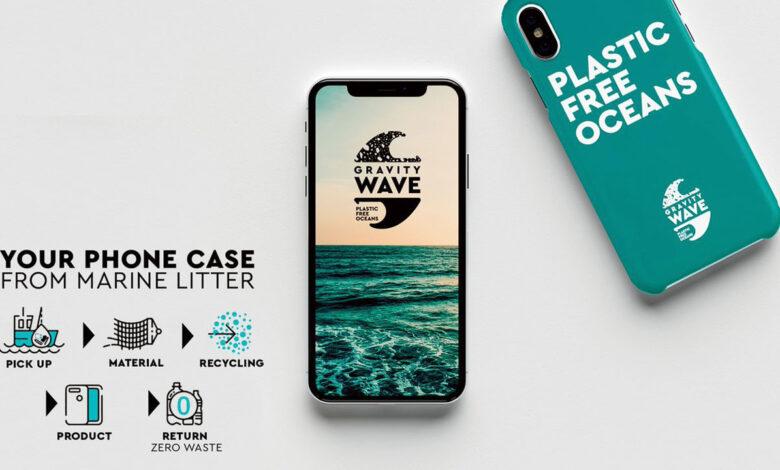 Gravity Wave: el proyecto que crea fundas de móvil con plástico recogido del mar