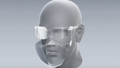 Así es la primera mascarilla 3D con parte móvil para bebidas y alimentos