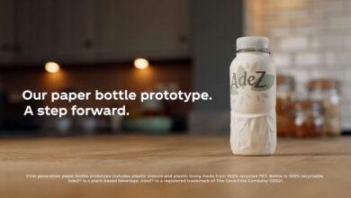 La nueva botella de Coca-Cola es de cartón y plástico reciclado