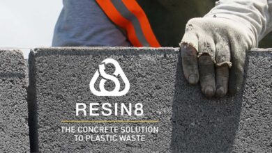 RESIN8: así utilizan plásticos reciclados para fabricar hormigón