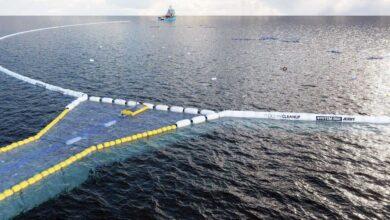 Ocean Cleanup crea una nueva y gigantesca red de 800 metros para recuperar plásticos del océano