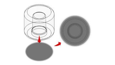Fig. 3 Ejemplo de Tapa de Perfume con Espesor Grueso de Pared