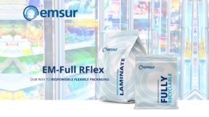 Emsur presenta EM-Full RFlex, films monomateriales barrera para envases flexibles