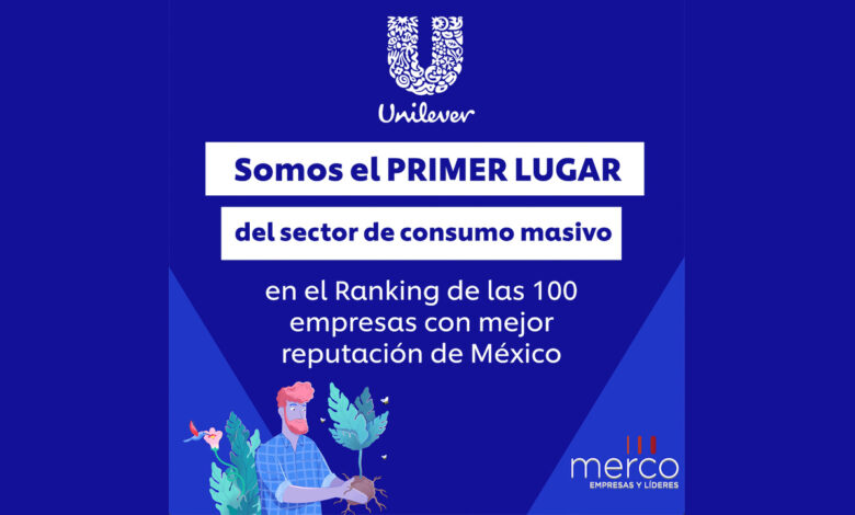 Unilever encabeza sector consumo masivo en el ranking de Merco